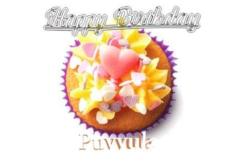 Happy Birthday Puvvula Cake Image