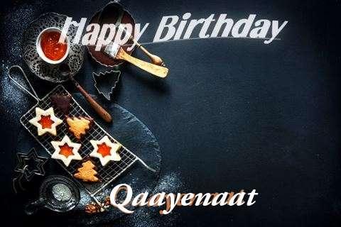 Happy Birthday Qaayenaat Cake Image