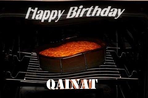 Happy Birthday Qainat Cake Image