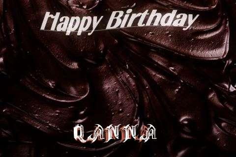 Happy Birthday Qanna Cake Image