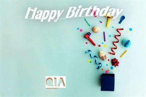 Happy Birthday Wishes for Qia