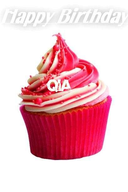 Happy Birthday Cake for Qia