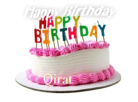 Happy Birthday Cake for Qirat