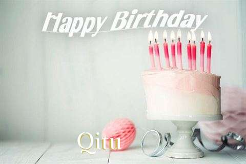 Happy Birthday Qitu Cake Image