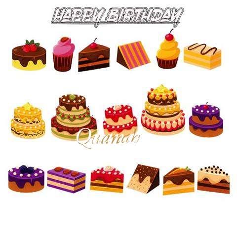 Happy Birthday Quanah Cake Image