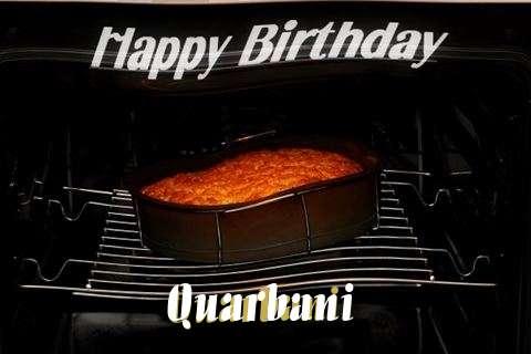 Happy Birthday Quarbani Cake Image