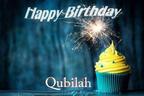 Happy Birthday Qubilah Cake Image