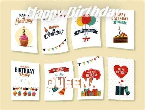 Happy Birthday Cake for Queena