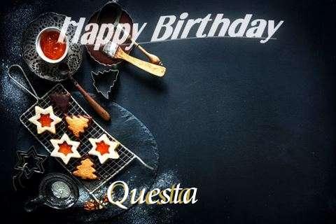 Happy Birthday Questa Cake Image
