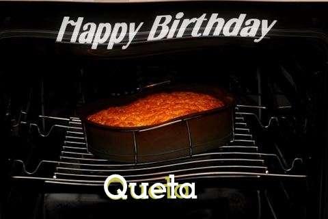 Happy Birthday Queta Cake Image