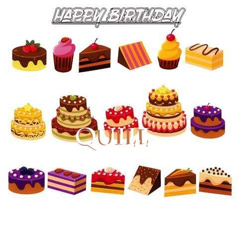 Happy Birthday Quill Cake Image