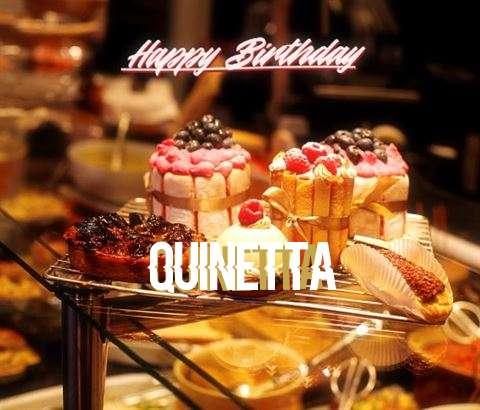 Happy Birthday Quinetta Cake Image