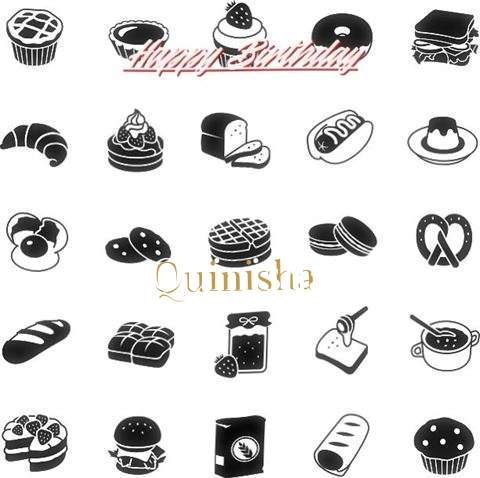 Happy Birthday Quinisha Cake Image