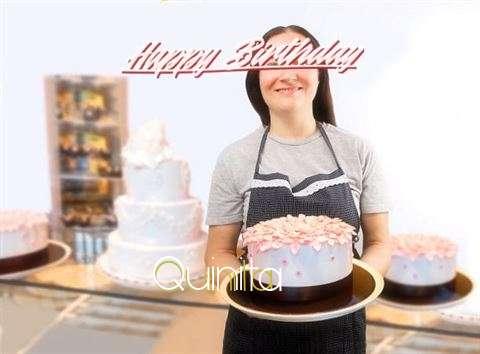 Happy Birthday Quinita Cake Image
