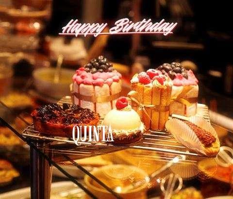 Happy Birthday Quinta Cake Image