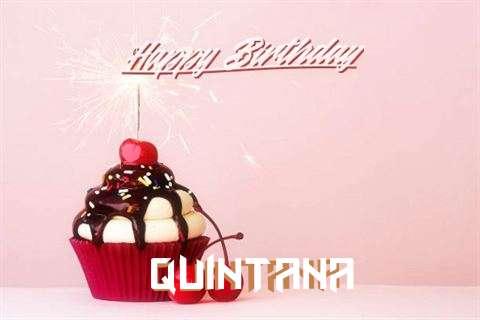 Happy Birthday Quintana Cake Image