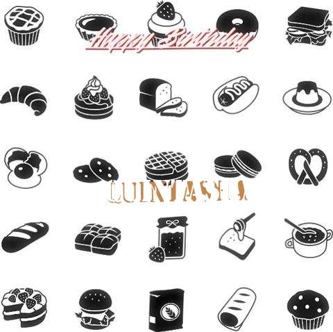 Happy Birthday Quintasha Cake Image