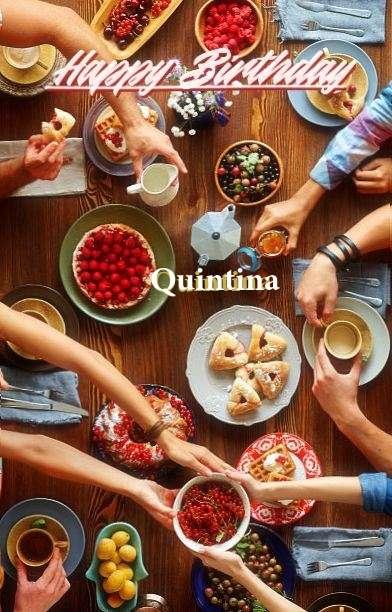 Happy Birthday Cake for Quintina
