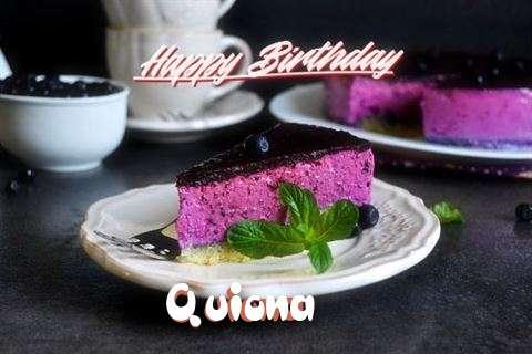 Happy Birthday Quiona Cake Image