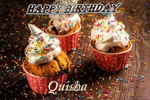 Happy Birthday Quisha Cake Image