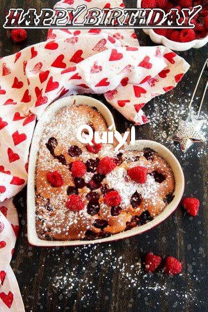 Happy Birthday Quiyl Cake Image