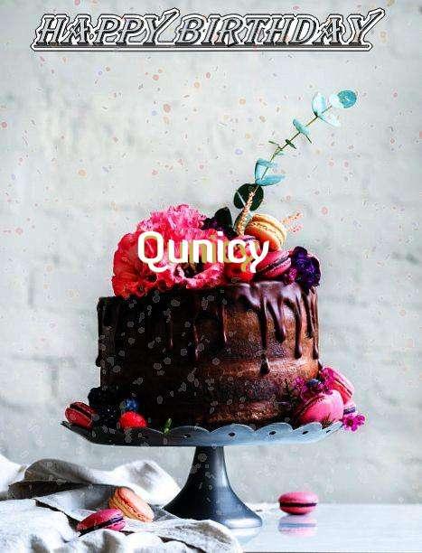 Happy Birthday Qunicy Cake Image