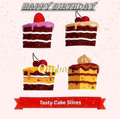 Happy Birthday Qurba Cake Image