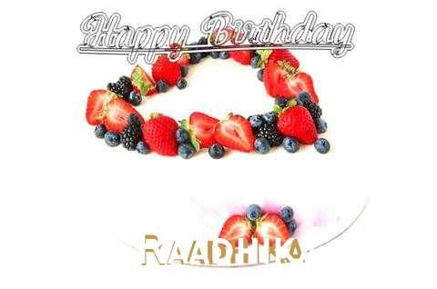 Happy Birthday Cake for Raadhika
