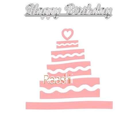 Happy Birthday Raashi Cake Image