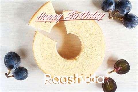 Happy Birthday Raashida Cake Image