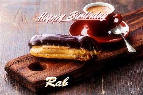 Happy Birthday Rab Cake Image