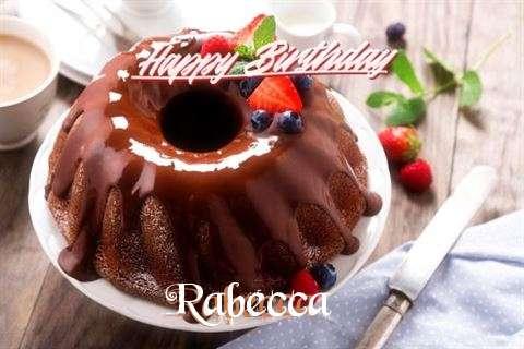 Happy Birthday Rabecca Cake Image