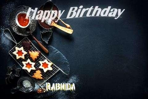 Happy Birthday Rabhida Cake Image