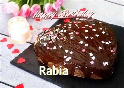 Happy Birthday Cake for Rabia