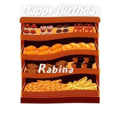 Happy Birthday Cake for Rabina