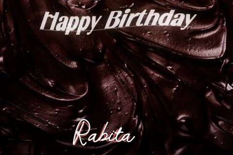 Happy Birthday Rabita Cake Image