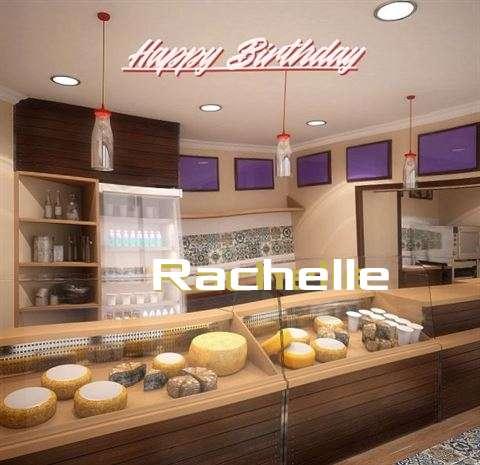 Happy Birthday Rachelle Cake Image