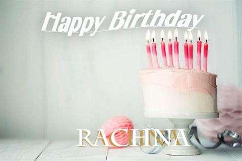 Happy Birthday Rachna Cake Image