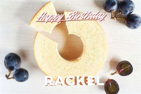 Happy Birthday Rackel Cake Image