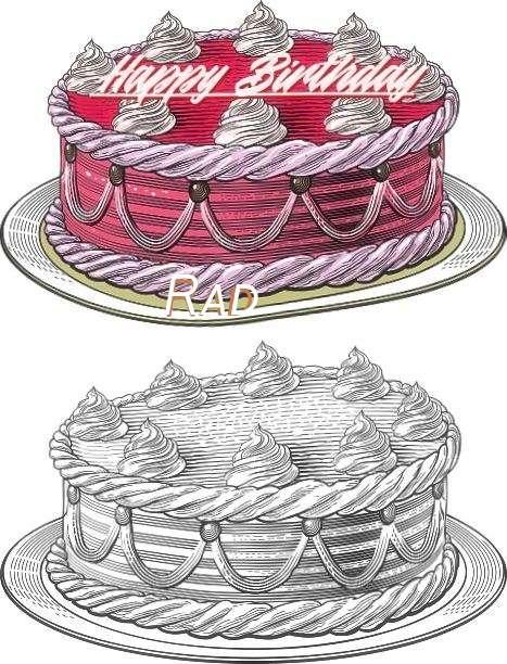 Happy Birthday Rad Cake Image