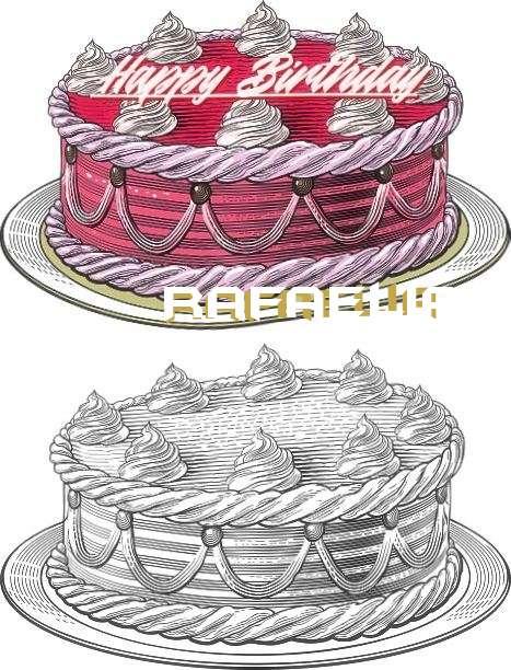 Happy Birthday Rafaelia Cake Image