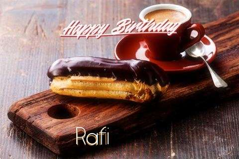 Happy Birthday Rafi Cake Image