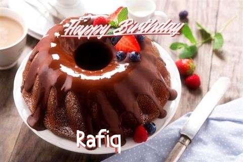 Happy Birthday Rafiq Cake Image