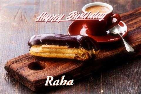 Happy Birthday Raha Cake Image