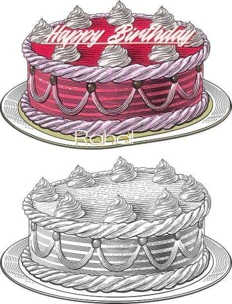 Happy Birthday Rahal Cake Image