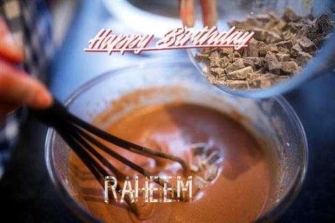 Happy Birthday Raheem Cake Image