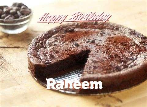 Happy Birthday Cake for Raheem