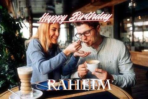 Happy Birthday Raheim Cake Image