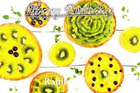 Happy Birthday Rahil Cake Image