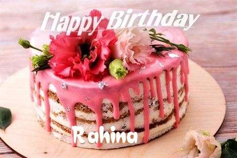 Happy Birthday Cake for Rahina